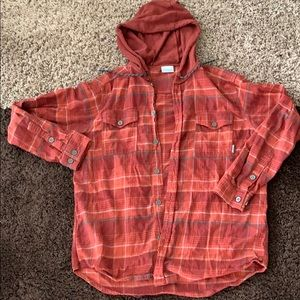Hooded flannel!